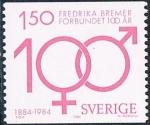 Sellos de Europa - Suecia -  CENT DE LA ASOCIACIÓN FRÉDERIKA BREMER. DE LOS DERECHOS DE LA MUJER. Y&T Nº 1280