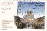 Stamps Spain -  patrimonio mundial de la humanidad-hospital de san pau barcelona