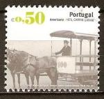 Sellos del Mundo : Europa : Portugal : Transportes publicos urbanos-Americano> 1873,Carris(Lisboa).