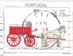 Sellos de Europa - Portugal -  carro de correo de tracción animal s.XIX