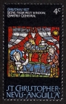 Stamps Saint Kitts and Nevis -  FRANCIA - Catedral de Chartres