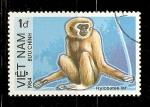 Stamps Vietnam -  HYLOBATES  LAR