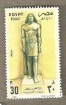 Stamps Egypt -  Escultura Personaje