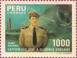 Stamps America - Peru -  Capitán FAP José A. Quiñones Gonzales. Héroe NAcional.