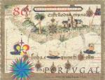 Sellos de Europa - Portugal -  mapa de atlas
