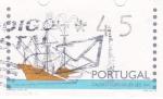 Sellos de Europa - Portugal -  galeon portugues s. XVI