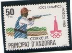 Sellos de Europa - Andorra -  Juegos olimpicos - Moscu 1980