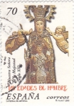 Stamps Spain -  lLAS EDADES DEL HOMBRE-ntra.sra.de la  majestad