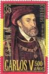 Stamps Spain -  500 del nacimiento de Carlos V