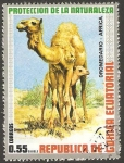 Stamps Equatorial Guinea -  Dromedario de África