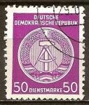 Sellos de Europa - Alemania -  Marca de servicio,circ/der-DDR.
