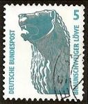 Sellos de Europa - Alemania -  Monumentos y curiosidades. El león de Brunswick.