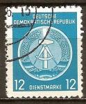 Sellos de Europa - Alemania -  Marca de servicio,circ/izq-DDR.