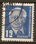 Sellos de Europa - Alemania -  Presidente Wilhelm Pieck(DDR).