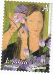 Stamps Spain -  pintura- la mujer y las flores