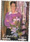 Sellos de Europa - España -  pintura- la mujer y las flores