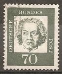 Sellos del Mundo : Europa : Alemania : Ludwig van Beethoven 1770-1827 (compositor)