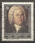 Sellos del Mundo : Europa : Alemania : Johann Sebastian Bach. 1685-1750 (compositor)