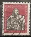 Sellos del Mundo : Europa : Alemania : Georg Friedrich Händel 1685-1759 (compositor)
