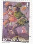 Stamps Spain -  pintura-el circo