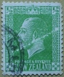 Stamps : Oceania : New_Zealand :  Rey George V.