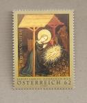 Stamps Austria -  Nacimiento Cristo museo catedral de Viena