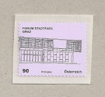Stamps Austria -  Forum del parque de la ciudad, Graz