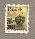 Stamps Austria -  Ayuda por las inundaciones