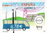 Sellos de Europa - España -  ahorro de energia