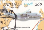 Stamps Spain -  vuelo conmemorativo