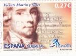 Sellos de Europa - España -  250 aniversario nacimiento vicente martin