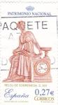 Sellos de Europa - España -  reloj de sobremesa s.XIX