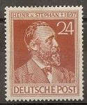 Sellos del Mundo : Europa : Alemania : 50 aniversario de la muerte de Heinrich von Stephan
