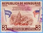 Stamps : America : Honduras :  CL aniversario del nacimiento de Lincoln