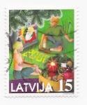 Sellos del Mundo : Europa : Letonia : navidad 2000