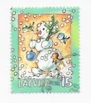 Stamps Europe - Latvia -  navidad