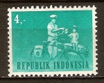 Sellos de Asia - Indonesia -  Ciclo-cartero.