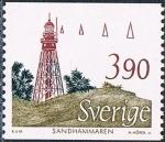 Sellos de Europa - Suecia -  FAROS. SANDHAMMAREN, SKARE, C. 1860