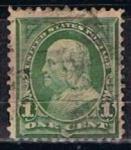 Sellos de America - Estados Unidos -  Scott  279 Franklin (4)