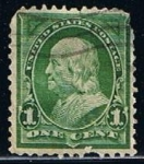 Stamps United States -  Scott  279 Franklin (8)