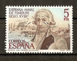 Stamps Spain -  Defensa Naval de Tenerife.