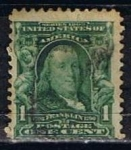 Stamps United States -  Scott  300 Franklin (8)