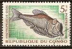 Sellos del Mundo : Africa : República_del_Congo : Argyropelecus gigas (Pez hacha plateado gigante).