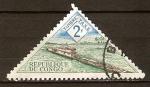 Sellos del Mundo : Africa : República_del_Congo : Impuesto de sellos-Empujador de rio.