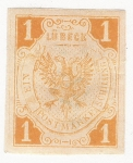 Sellos del Mundo : Europa : Alemania : Coat of Arms - Lubeck 1859
