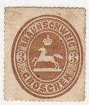 Sellos de Europa - Alemania -  Brunswich 1865