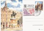 Sellos del Mundo : Europa : España : TDP - 50º Aniversario del mercado filatelico de la Plaza Mayor de Madrid