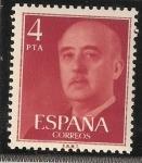Sellos del Mundo : Europa : España : Serie numerada para franqueo a maquina - Efigie del caudillo - Franco