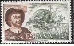 Sellos del Mundo : Europa : España : Juan Sebastián Elcano - Personajes Españoles ( Navegantes )