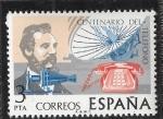 Sellos del Mundo : Europa : España : Centenario del Telefono
